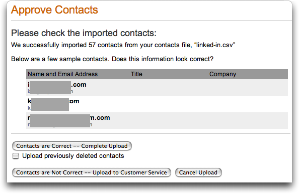 LinkedIn: Approve Contacts
