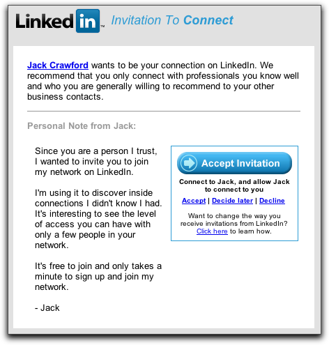How do i invite someone to join my linkedin network ask dave taylor linkedin invitation to connect stopboris Image collections