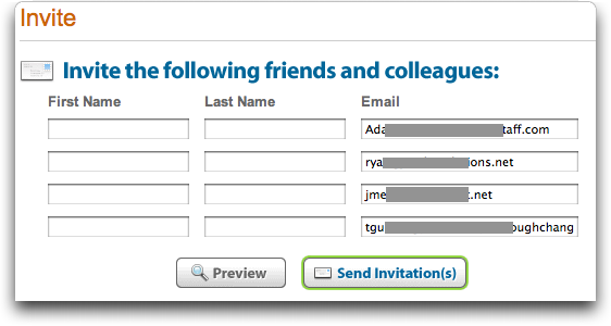 LinkedIn: Import Contacts: Add Names