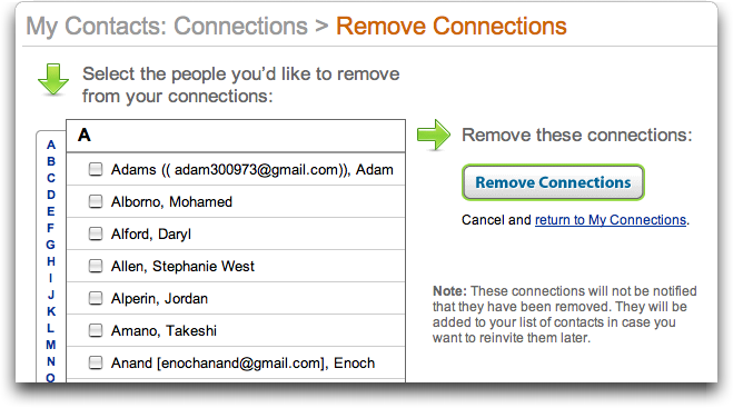 LinkedIn: Remove or Delete Connection