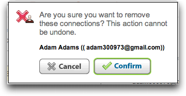 LinkedIn: Confirm Remove or Delete Connection