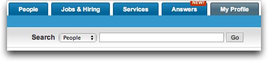 LinkedIn: Simple Search Box