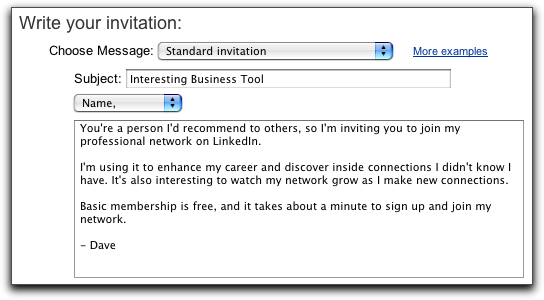 How do i invite someone to join my linkedin network ask dave taylor linkedin write invitation stopboris Choice Image