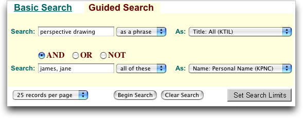 Library of Congress: Guided Search