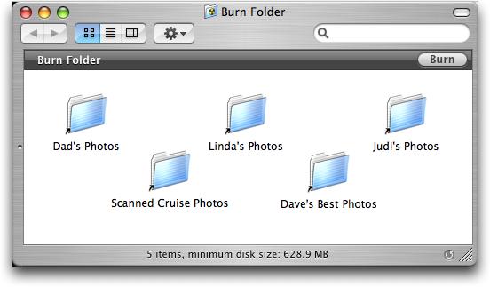Burning a CD on Apple Mac OS X