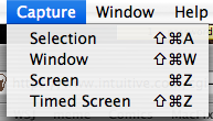 Mac Grab Utility: Capture Menu