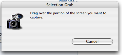 Mac OS X Screen Grab Utility: Selection
