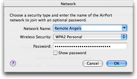 Mac OS X: Network Configuration: Airport Wireless Wifi 802.11: Edit