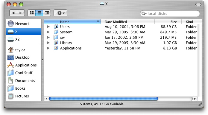Mac OS X Finder Showing Calculated Folder Sizes