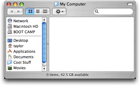 My Computer, simulated on Mac OS X