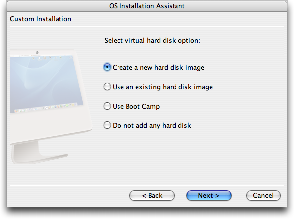 Mac Parallels: New OS: Virtual Hard Disk Option