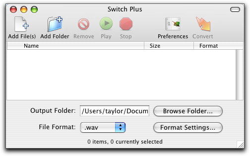 Switch Audio File Converter Software