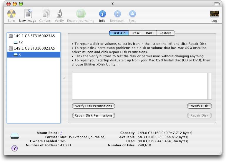 Disk utility mac os x скачать - фото 6