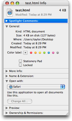 How do I use TextEdit with HTML files on Mac OS X? - Ask Dave Taylor
