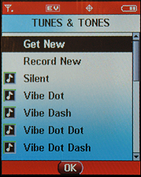 Motorola RAZR v3c: Edit Contact: Pick Custom Ringtone