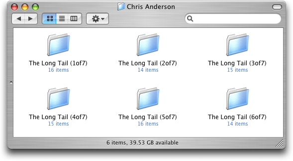 Mp3 Folders within the Apple iTunes Music Library, within the Apple Finder