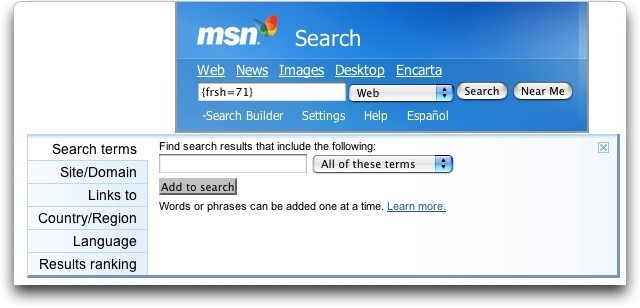 How does msn search 39 s search builder function work ask for Find builders