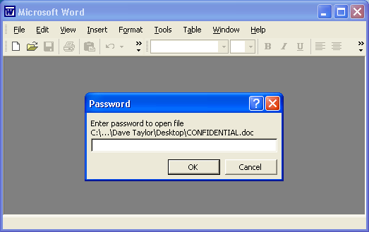 How do I create a password protected Word document? - Ask Dave Taylor