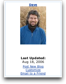 Dave Taylor's MySpace Blog: Last Updated...