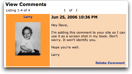 MySpace Edit Comment