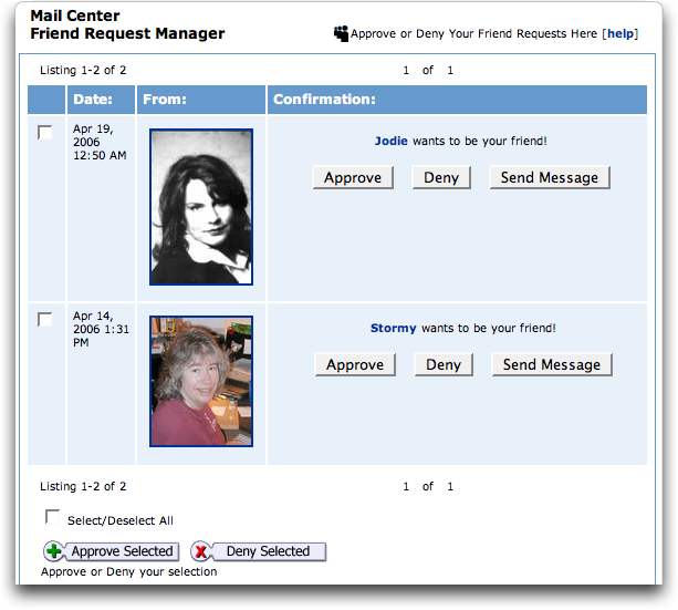 MySpace: Friend Request Manager