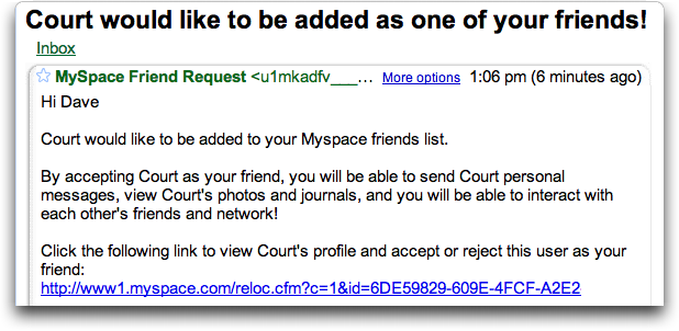 how do you find your friend id number on myspace