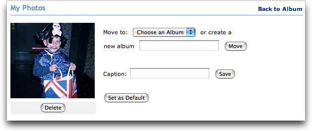 MySpace: Set New Photograph as Default Photo