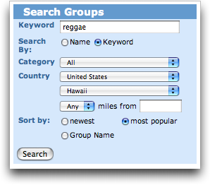 MySpace: Search Groups