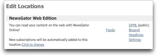 NewsGator Online: Web Edition: OPML Export