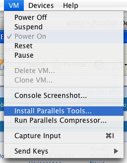 Parallels Desktop: Installing Parallels Tools