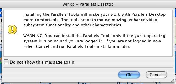 Parallels Desktop: Installing Parallels Tools 2