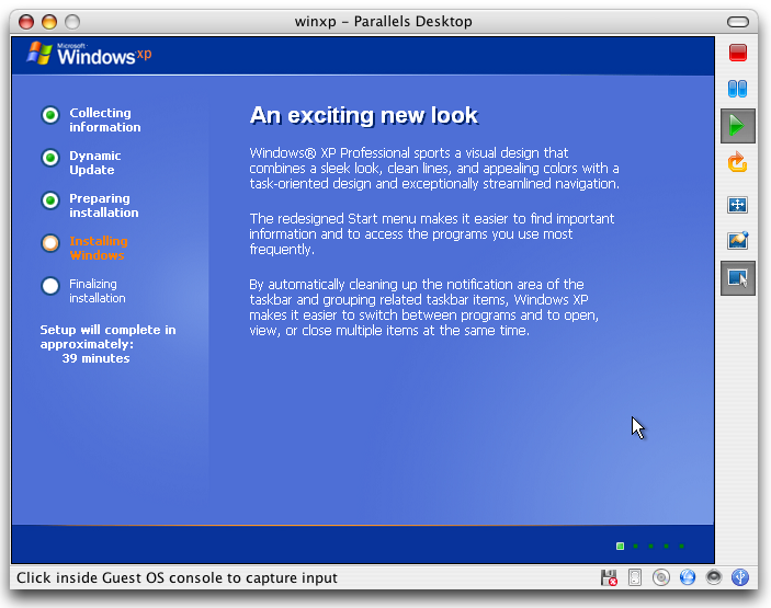 How do i install windows xp on my mac with parallels for Installing new windows