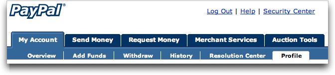 Paypal / eBay: My Account : Profile