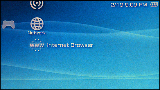 Sony PSP: Internet Browser