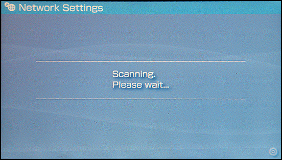 Sony PSP: Settings: Scanning: Wait