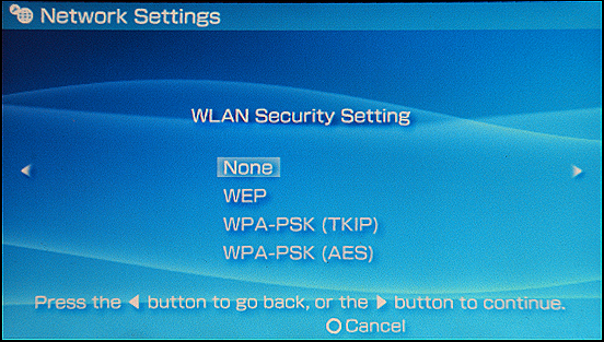 Sony PSP: Security Settings