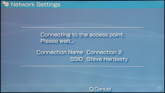 Sony PSP: Testing Access Point