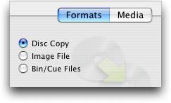 Roxio Toast 7 Titanium for Mac OS X: Formats: Disc Copy
