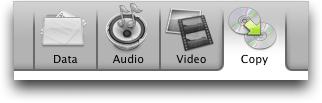 Roxio Toast 7 Titanium for Mac OS X: Tabs Along Top