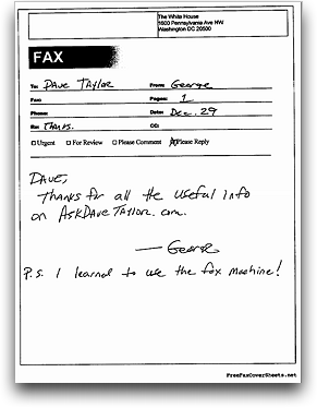 Sample Fax on a Computer