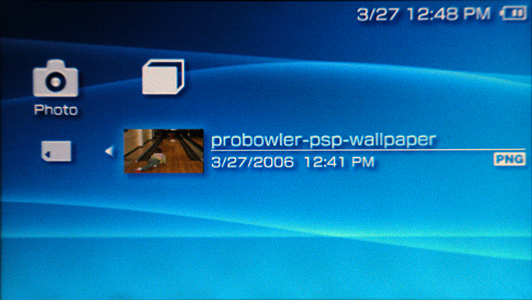 how do i change the background wallpaper on my sony psp