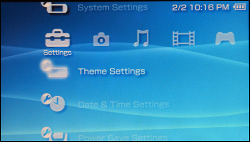 Setting Wallpaper on a Sony PSP: Themes