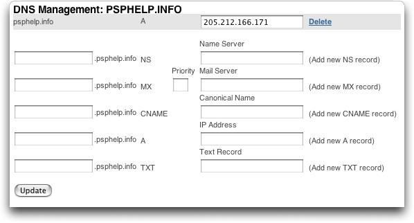 Typepad: Map a Domain Name: MyDomain DNS Record