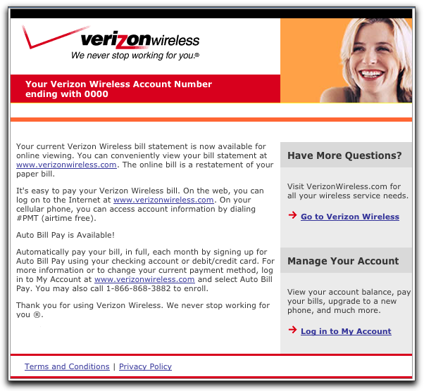 Is Email From Verizon Wireless Actually Phishing?