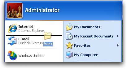 how to create con folder in desktop in windows xp
