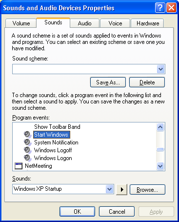 Windows Sound and Audio Devices: Start Windows