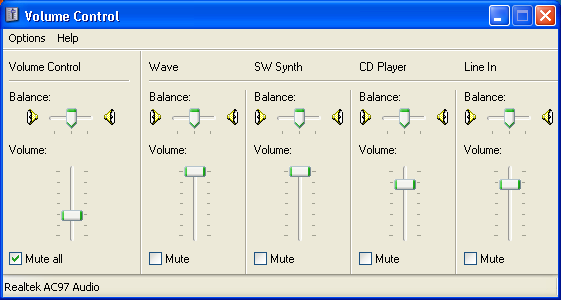 Volume Sound Control Panel : Why don t i hear music from windows media player ask