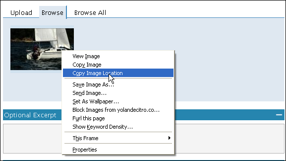 Wordpress: Copy Image Location