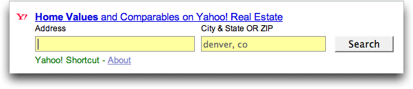 Yahoo Search: Real Estate Search