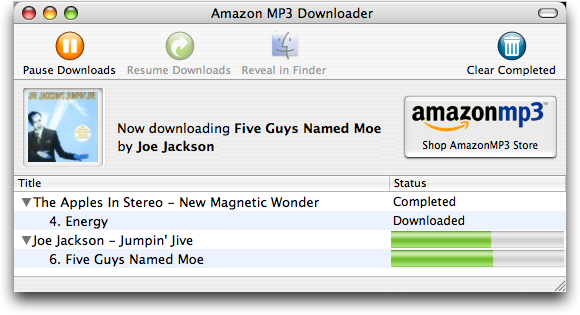 Amazon's AmazonMp3 Mp3 Download: Bought Five Guys Named Moe!